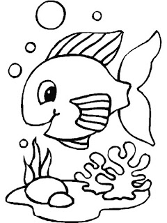 Baby Fish in Aquarium - Animal Coloring Pages