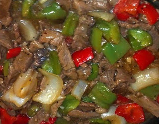 Pepper steak in a crock pot