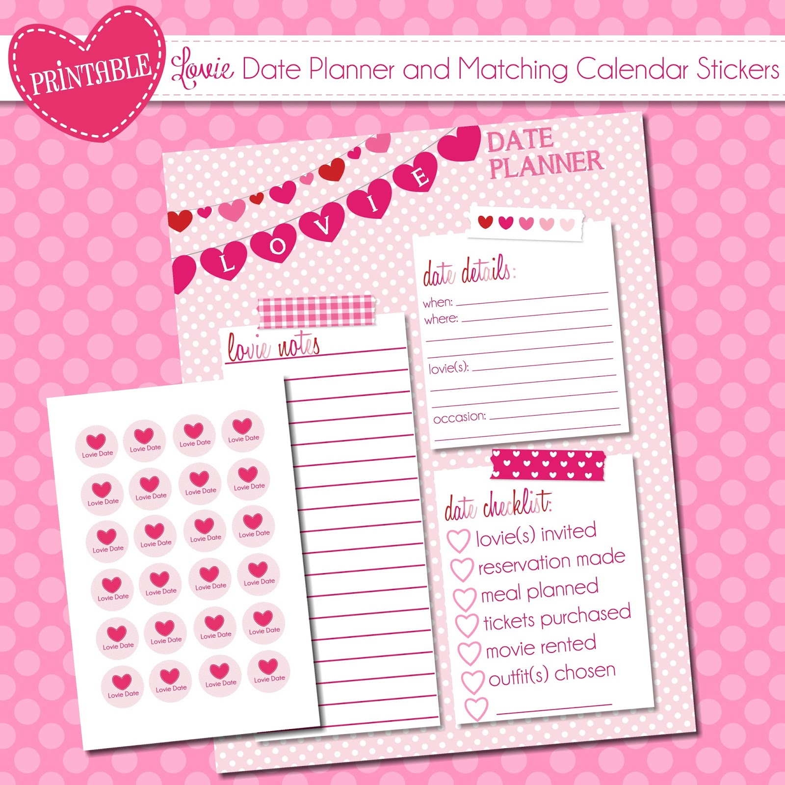 The Polka Dot Posie Our Favorite Free Valentine S Day Printables