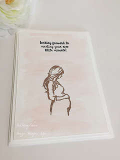Looking forward to meeting your little miracle card - wonderful moments Stampin Up Pregnant lady