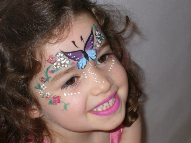 Simple Face Painting Designs Flowers