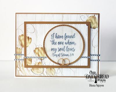 Our Daily Bread Designs Stamp Set: Happily Ever After, Paper Collection: Wedding Wishes, Custom Dies: Pierced Rectangles, Rectangles, Stitched Rectangles
