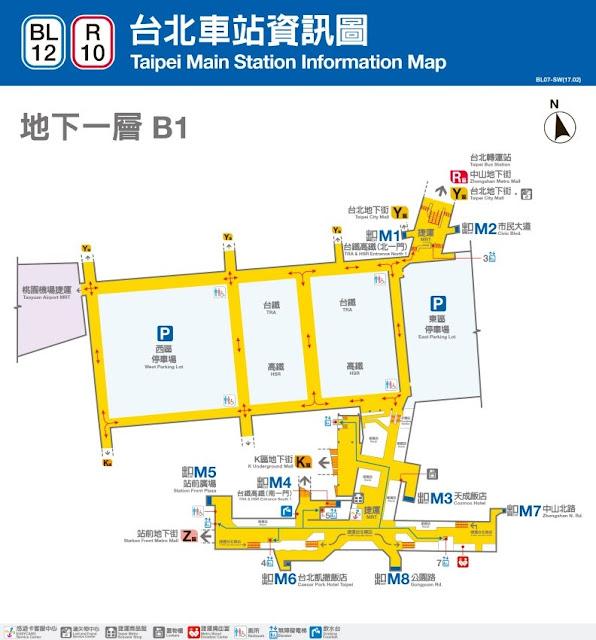 捷運台北車站平面地圖