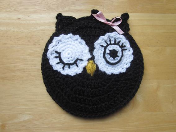 Agarrador cocina  búho crochet