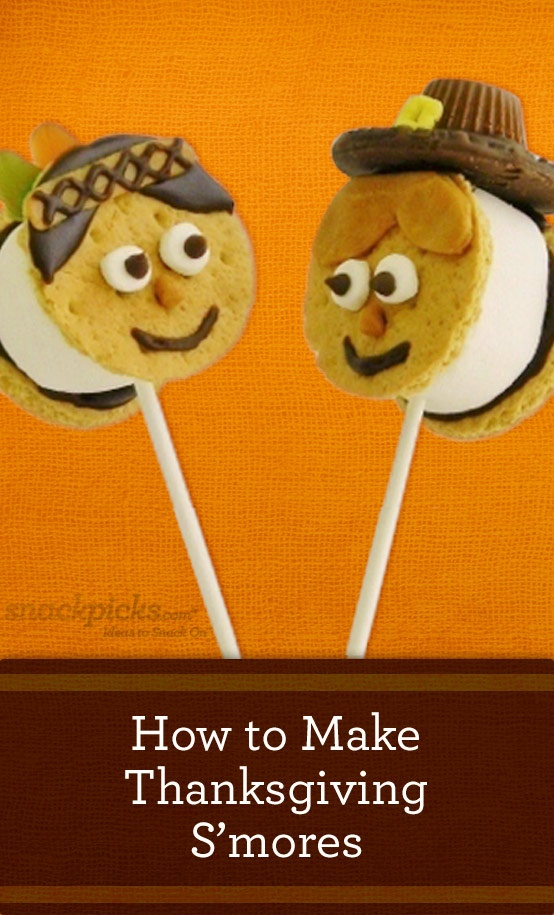 We Also Made These Fun Thanksgiving S Mores Pops For The Kellogg Site Snackpicks