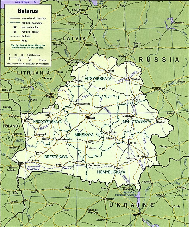 image: Belarus political map
