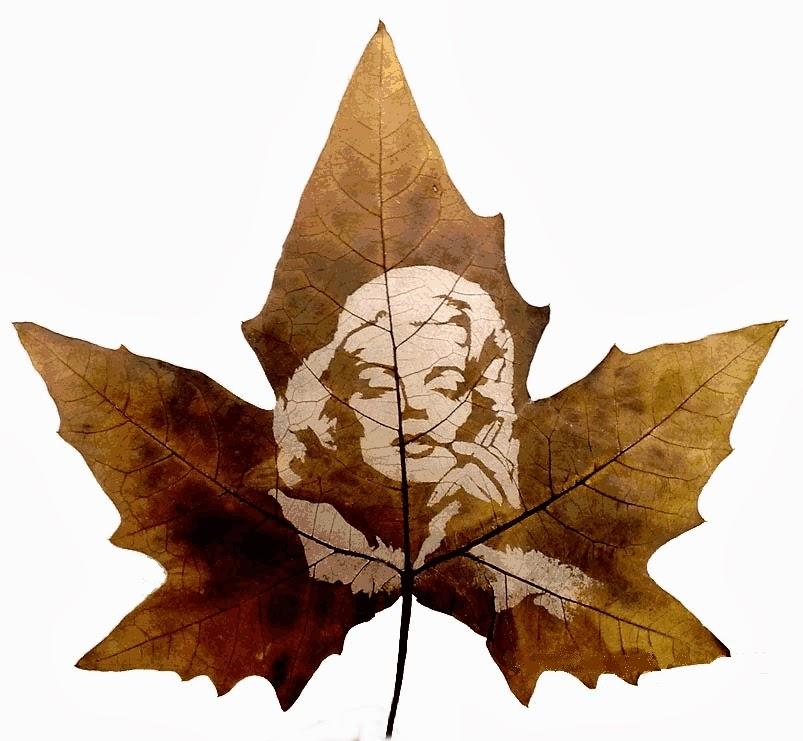 Leaf carving art tutt pittura scultura poesia