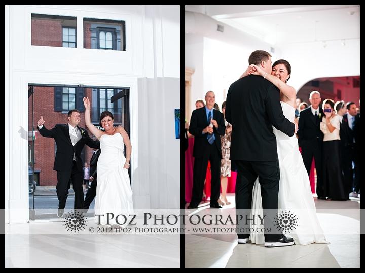 Entrance into Philadelphia Trust Wedding Reception