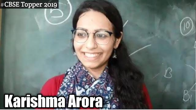 Karishma Arora (CBSE Topper 2019), Age, Family, School, Marks, Wiki, Biography & More