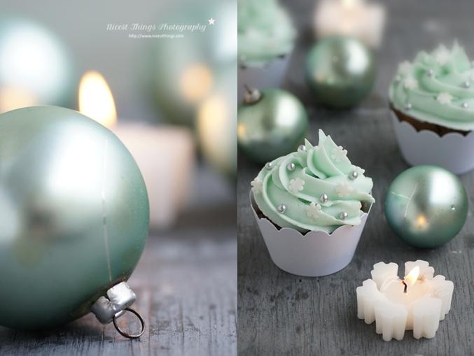 Spekulatius Cupcakes mit Schneeflocken Frosting