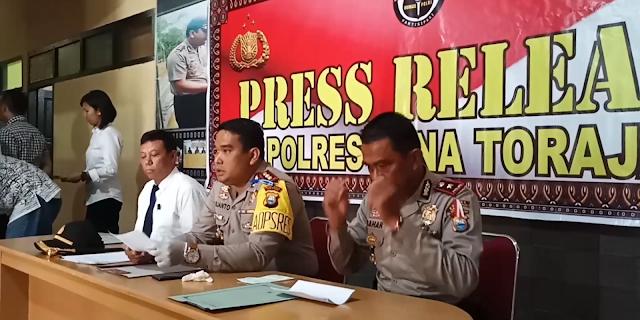 Di Depan Mapolres, Oknum Polisi Polres Tana Toraja Ditangkap Edarkan Narkoba