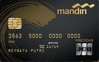Kartu kredit mandiri JCB Precious