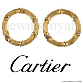 Queen Maxima Style CARTIER Gold Earrings