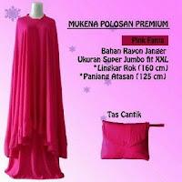 mukena Polos Premium merah