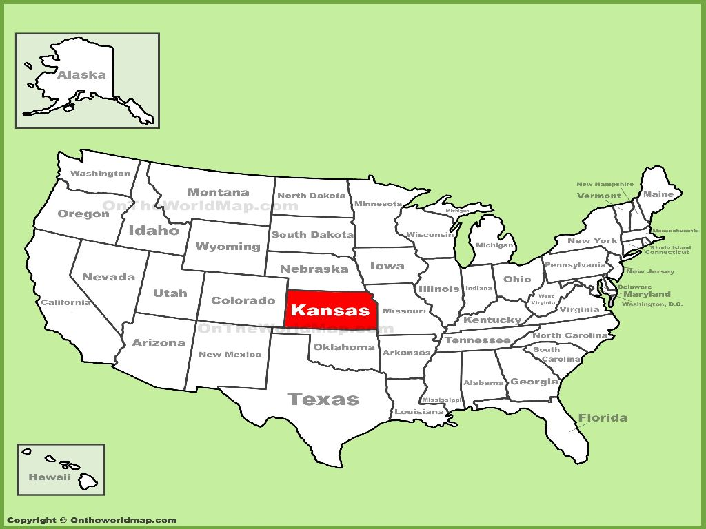 kansas united states map