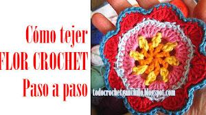 Cómo tejer una flor con ganchillo / Paso a paso