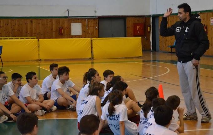 Ο Κώστας Χαραλαμπίδης στο shooting camp του ΠΚ Νεάπολης-Φωτορεπορτάζ