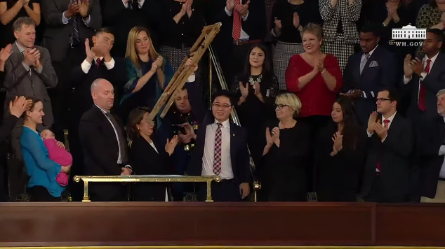 State of the Union Ji Seong-ho North Korean defector crutches G Song Ho