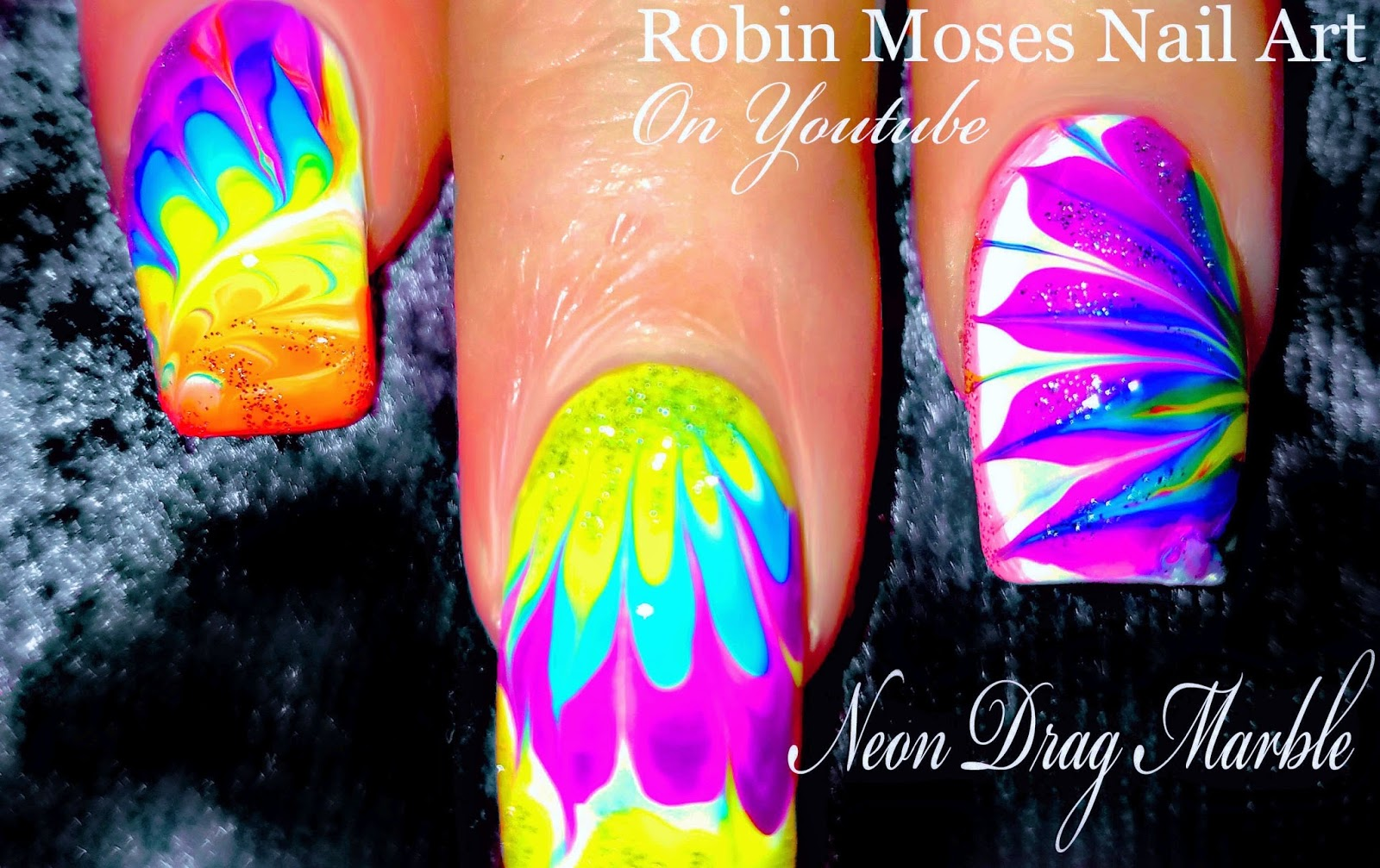 Nail Art by Robin Moses: Essie Neons will Glow your mind! No Water ...