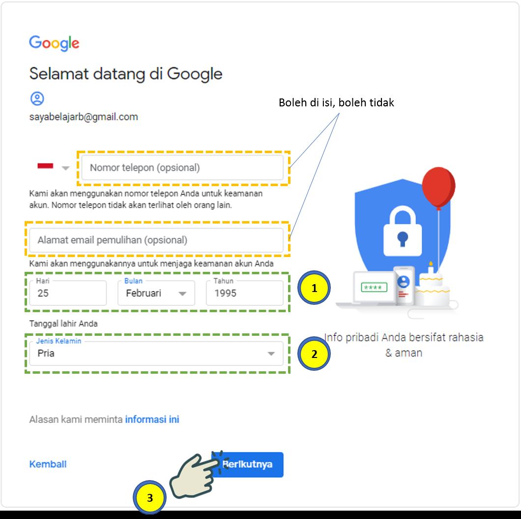 Cara Membuat Akun Gmail 2
