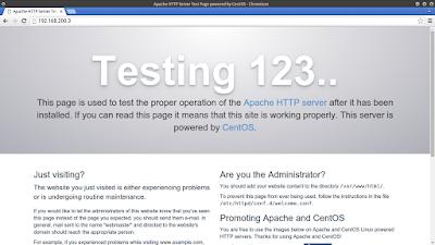 Kemudian coba buka web browser lalu akses ip server anda
