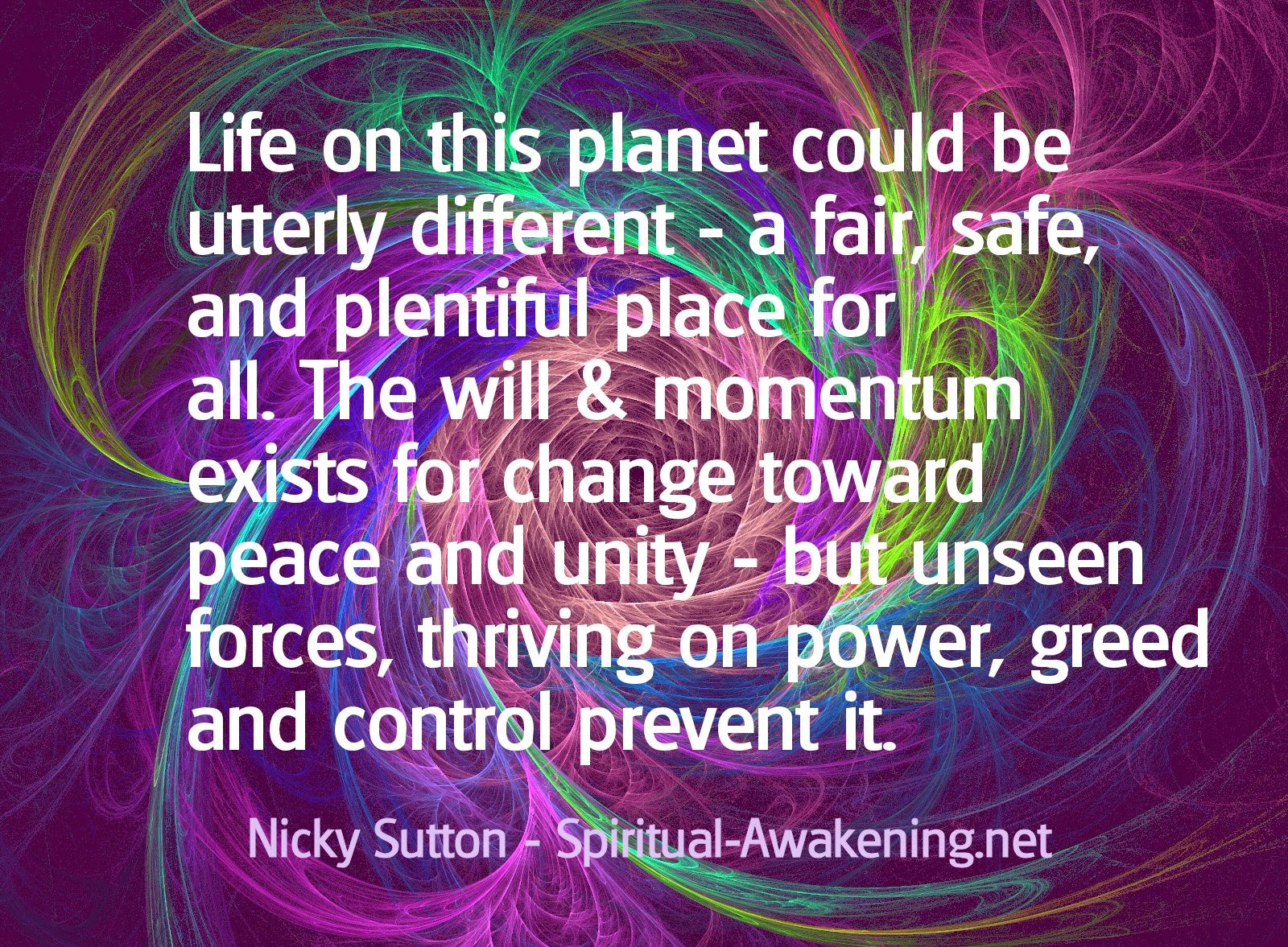 Nicky Sutton Quote