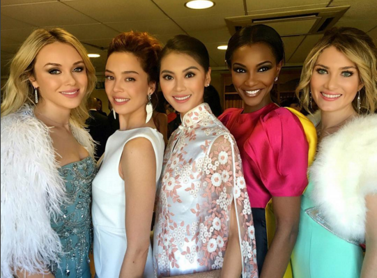 Agbani Darego poses with former Miss World winners at UK event (See Photos)
