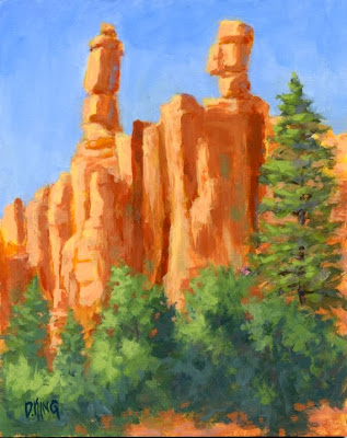 art painting red rock canyon utah landscape nature