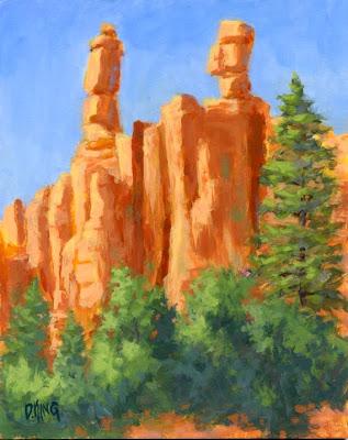 art painting red rock canyon utah landscape nature