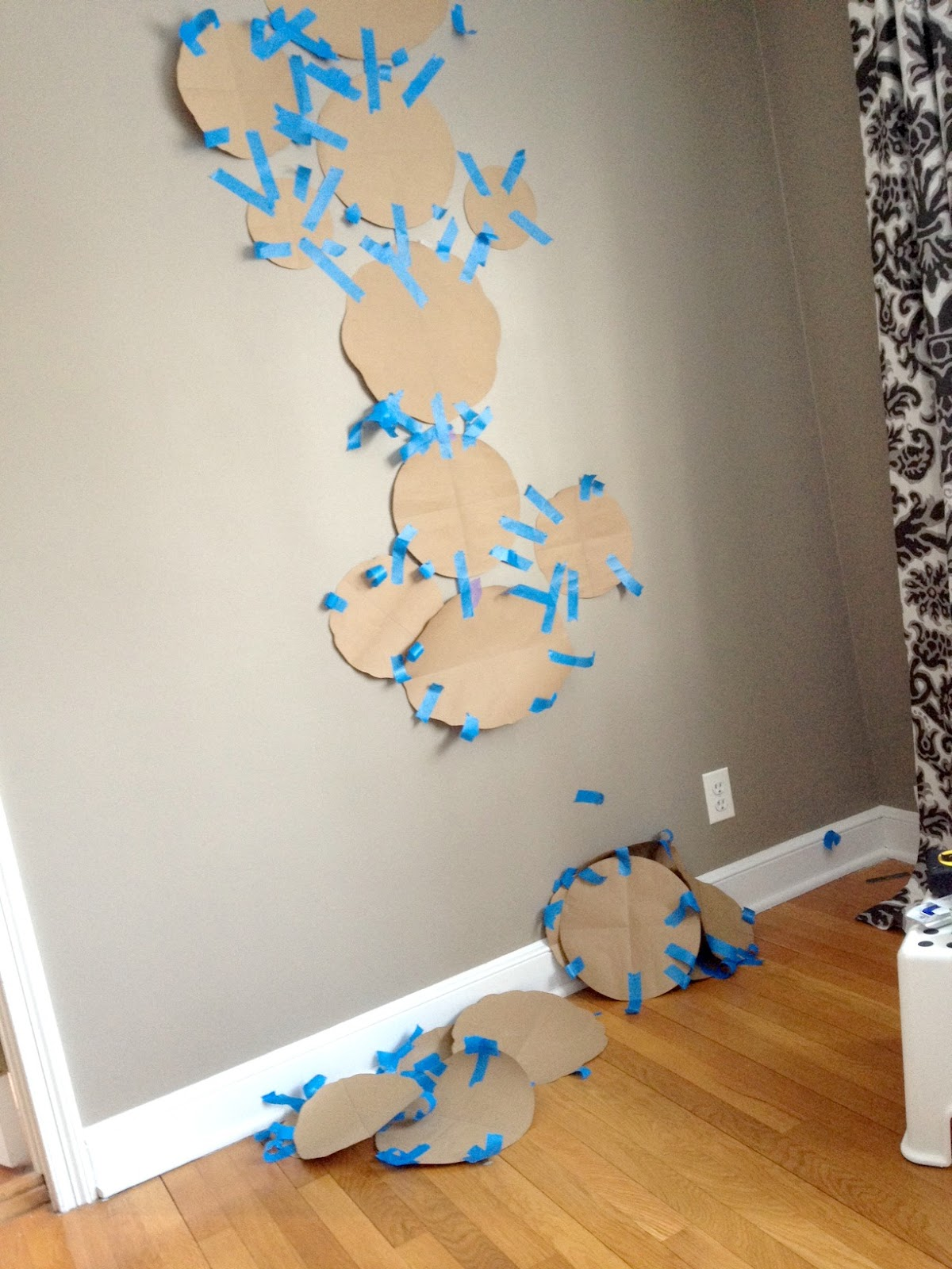 Step 3: Tape Your Templates To The Wall