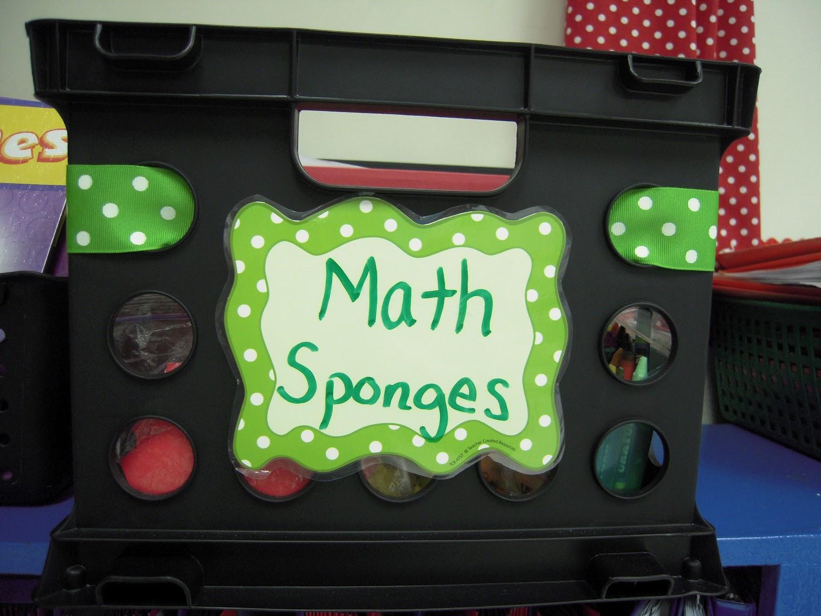 Mrs Mcdonald S 4th Grade Sponge Activties