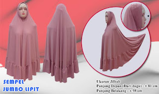 Jilbab syria lipit jumbo terbaru model instan yang murah