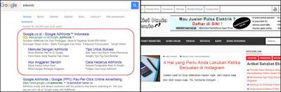 Beriklan di Google Adwords dan Situs Blog Personal