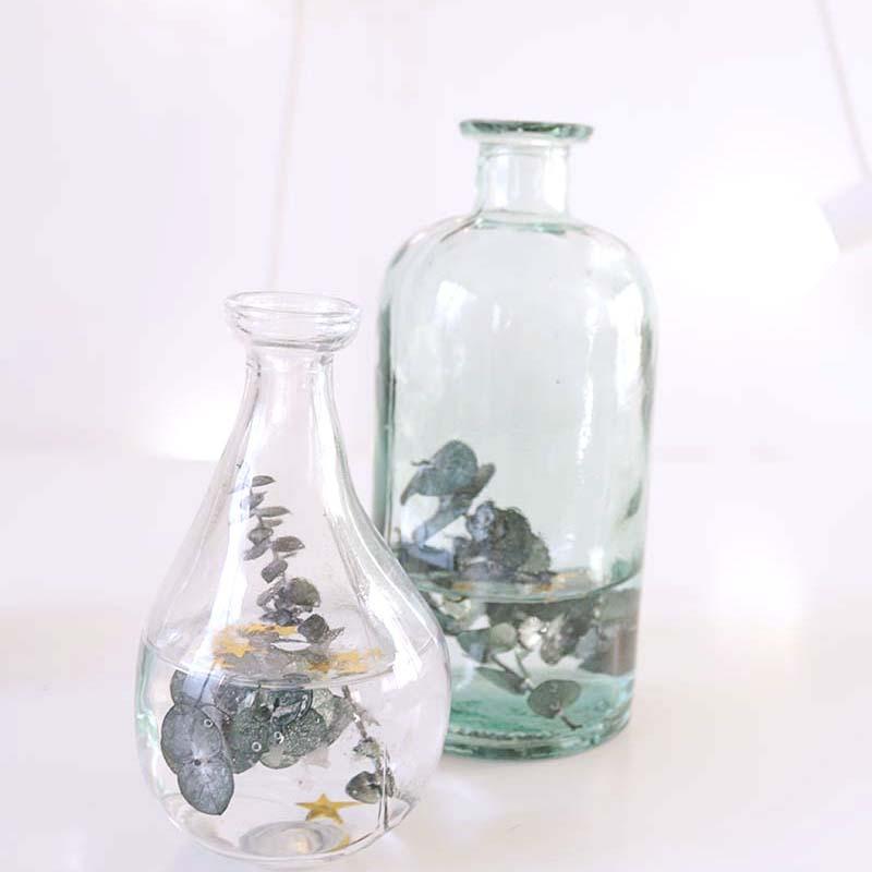DIY: 2 en uno cómo hacerte un jarrón portavelas de eucalipto