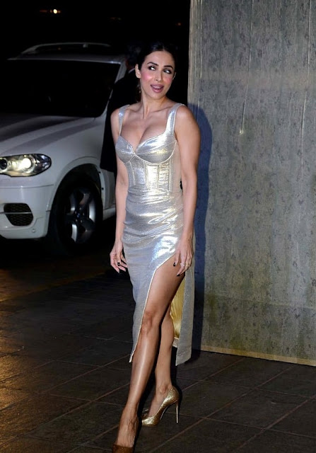 Malaika Arora Khan in Sliver Dress
