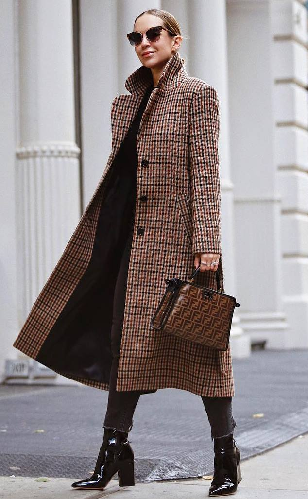 winter outfit inspiration / palid coat + bag + boots + jeans