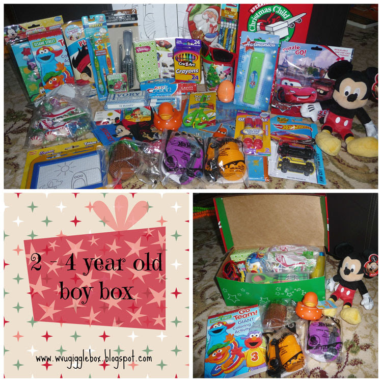 Operation Christmas Child 2014 Packing A 2 4 Year Old