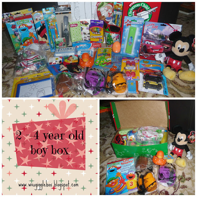 packing an Operations Christmas Child box for a 2 - 4 year old boy, OCC boy box ideas, Operation Christmas Child,