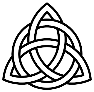 5 Degrees Of Weirdness 2 Color Tri Ring Triquetra Or