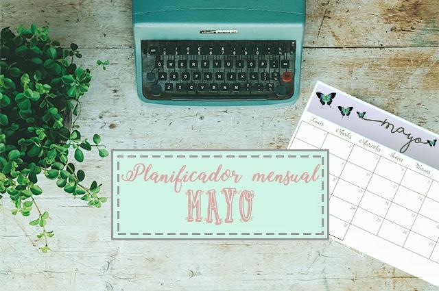Calendario mensual para organizar el mes de mayo