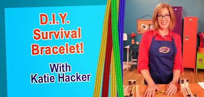 Watch Katie Hacker make a Paracord Bracelet on Hands On Crafts for Kids