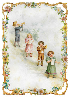 vintage greeting victorian flower children printable digital crafting image