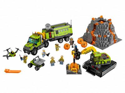 TOYS : JUGUETES - LEGO City  60124 Volcán : Base de Exploración  Volcano Research Base  Producto Oficial 2016 | Piezas: 824 | Edad: 8-12 años  Comprar en Amazon España & buy amazon USA