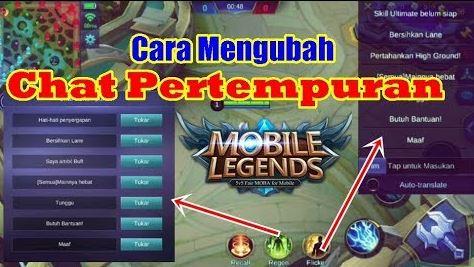 Cara Mengubah Chat Pertempuran di Mobile Legend