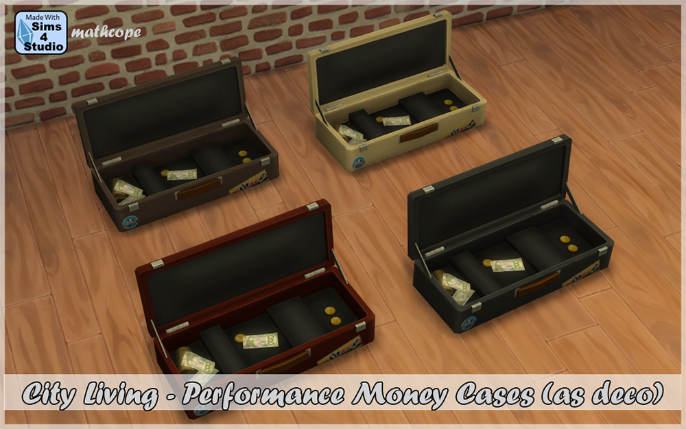 My sims 4 blog cl performance money cases as deco by mathcope for Deco appartement sims 4