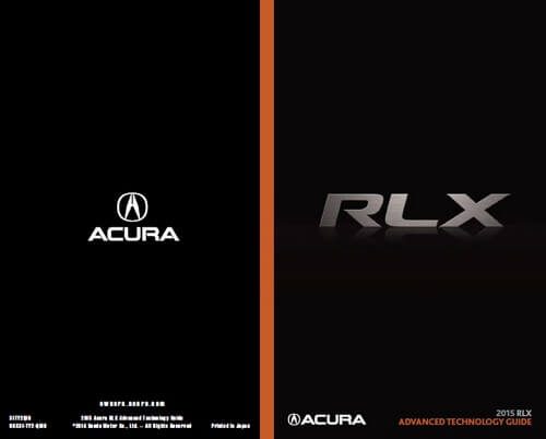 Download 2015 RLX Owner's Manuals & Guides