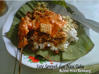 Sate Serepeh dan Nasi Tahu Khas Rembang Pak No