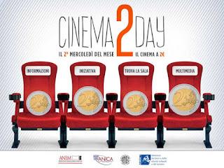 CON CINEMA2DAY VEDI UN FILM A SOLI 2 EURO OGNI SECONDO MERCOLEDI' DEL MESE