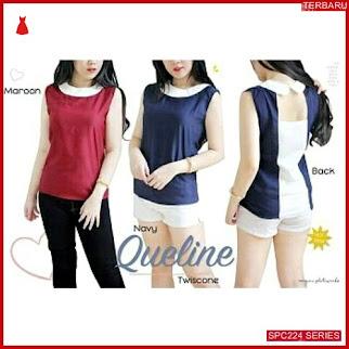 SPC224Q35 Queline Blouse Belakang Kancing Atasan Wanita | BMGShop
