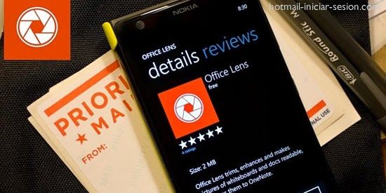 Office lens, la aplicación de Outlook para escanear y guardar información automáticamente